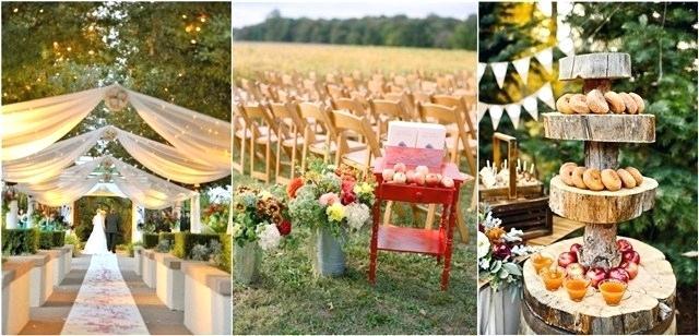 Herbst Hochzeitsdekoration